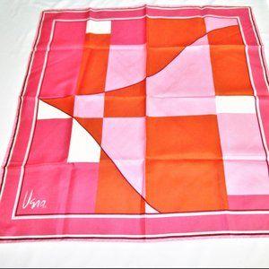 Vintage Pink/Orange Art Deco Nylon Scarf